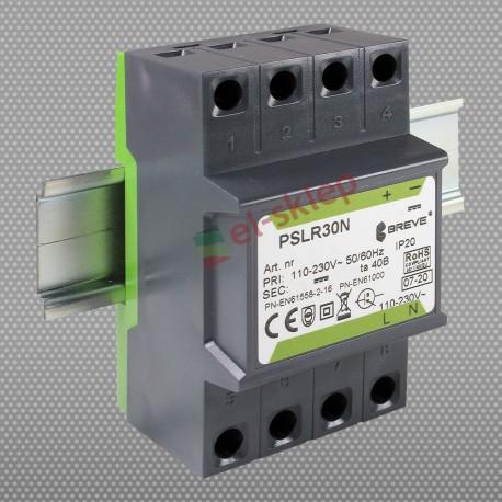 PSLR 30N 230/ 12VDC 2,5A 30W modułowy impulsowy zasilacz Breve