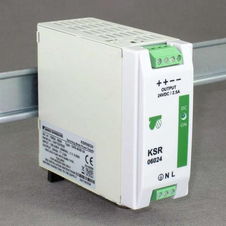 KSR 06024 230/ 24VDC 2,5A 60W zasilacz impulsowy modułowy przemysłowy Breve
