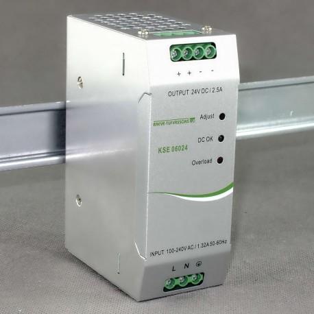 KSE 06024 230/ 24V DC 2,5A Breve - zasilacz impulsowy