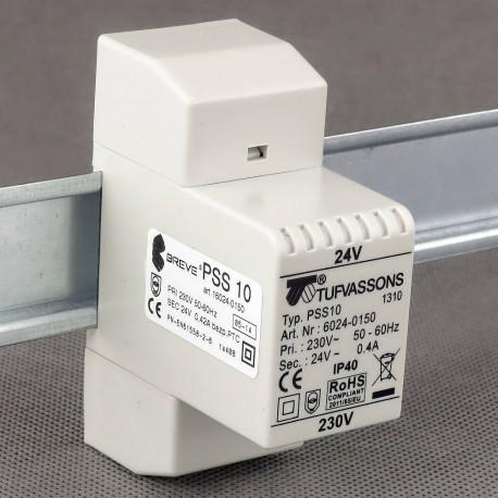 PSS 10T 230/24V transformator na szynę DIN Breve