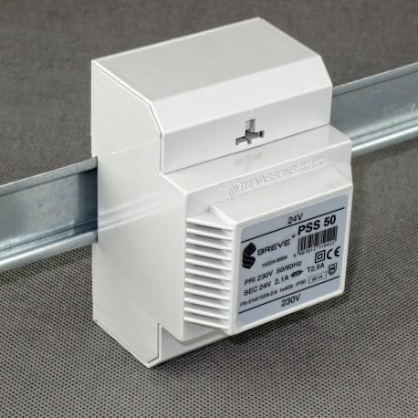 PSS 50 230/ 24V transformator na szynę DIN Breve