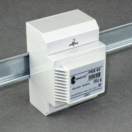 PSS 63 230/ 230V transformator na szynę DIN Breve
