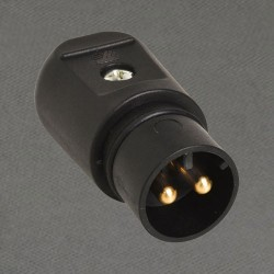 Dwupolowy wtyk bezpieczeństwa WT SELV 12 VAC 16A IP44 BREVE
