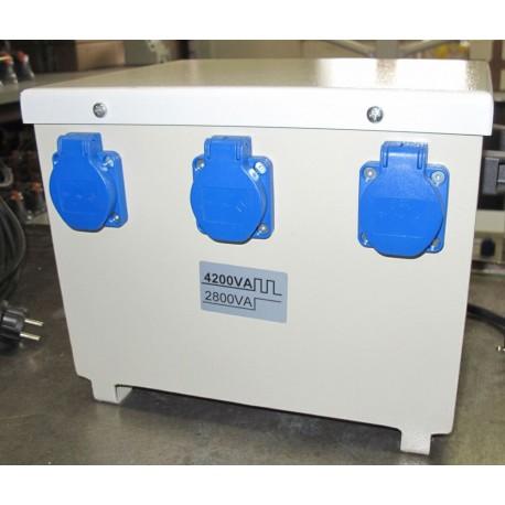 PFN4201/2801 - 230/230V separacyjny transformator do elektronarzędzi, przenośny, obudowany, Breve