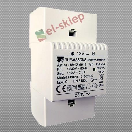 PSLR 24 230/12VDC 2A 24W modułowy impulsowy zasilacz Breve