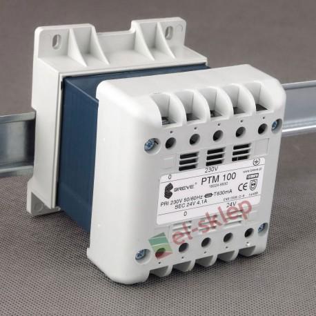 PTM 100 230/ 24V Breve obudowany transformator na szynę