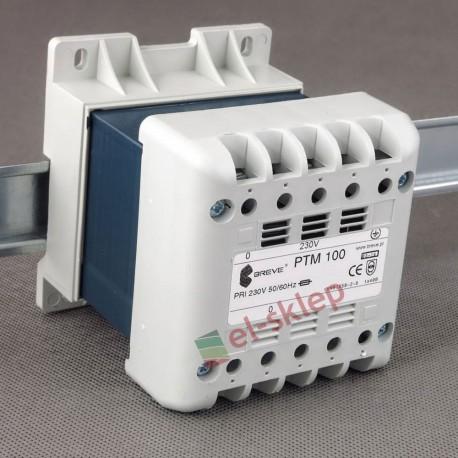 PTM 100 230/230V Breve obudowany transformator na szynę