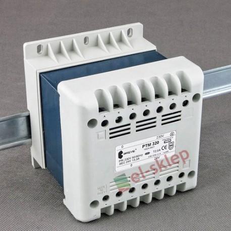PTM 320 230/ 24V Breve obudowany transformator na szynę