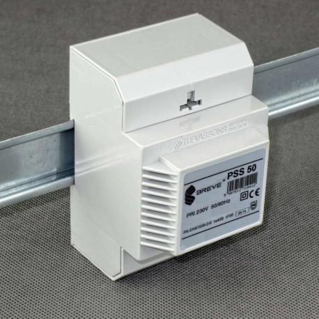 PSS 50 230/ 12V transformator na szynę DIN Breve