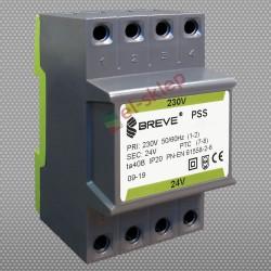 PSS 30N 230/ 24V transformator na szynę DIN Breve