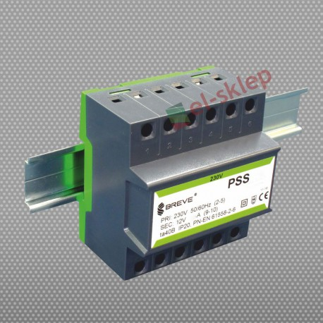 PSS50N230/12V transformator na szynę DIN Breve