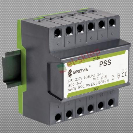 PSS63N230/24V transformator na szynę DIN Breve