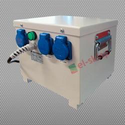 PFM2501 230/230V dwugniazdowy separacyjny transformator przenośny, obudowany, Breve