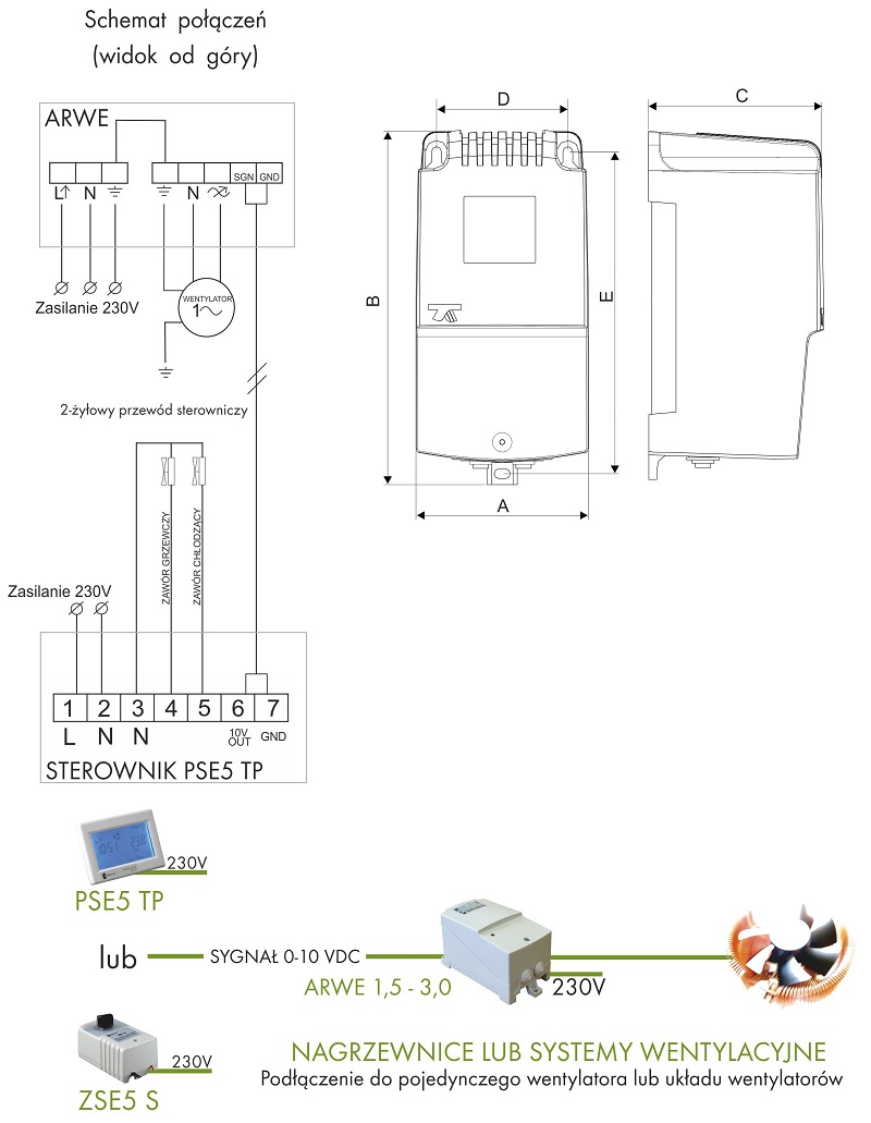 Regulator programowalny ARWE ze sterownikiem PSE5 TP